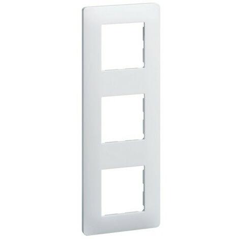 Essensya Plaque 3 postes entr.71 Blanc (WE403)