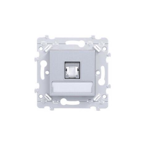 essensya prise RJ45 Catégorie 6a STP pour Grade 3 TV Titane (WE228T)