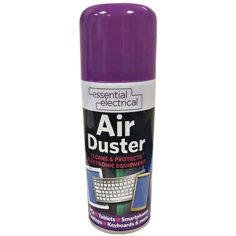 Essential Electrical 200ml Compressed Air Duster Can Cleaner for Laptops / PC's