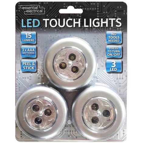 Essential Electrical LED Touch Lights Pack of 3