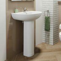 Essentials Budget Full Pedestal 1 Tap Hole Bathroom Sink