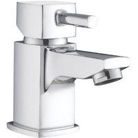 Essentials Chrome Mini Basin Mono Mixer & Slotted Sprung Basin Waste