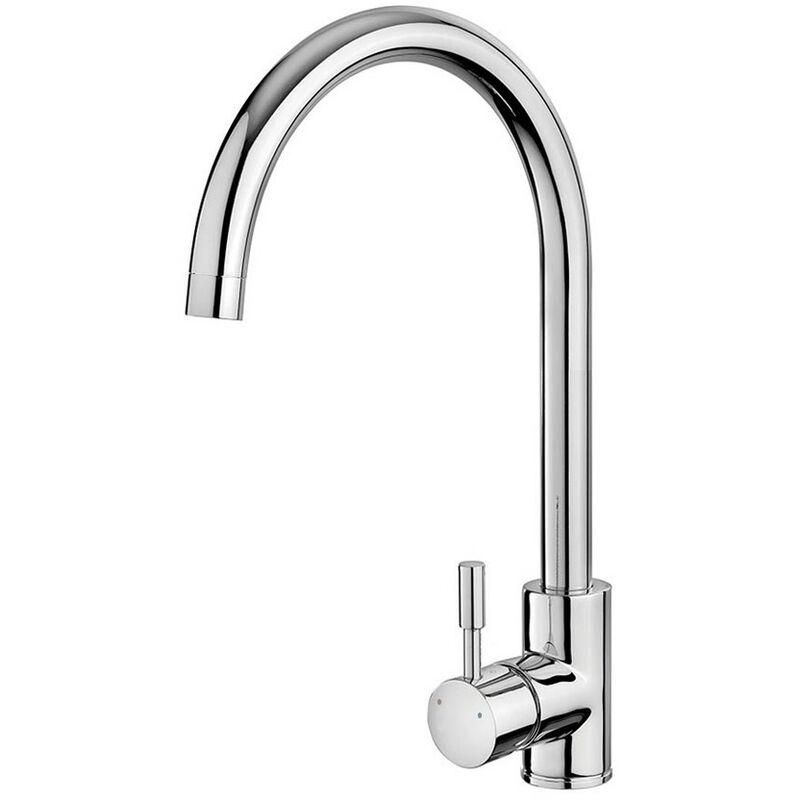 Wentworth Bathrooms - Essentials Chrome Stainless Steel Kitchen Sink Mixer