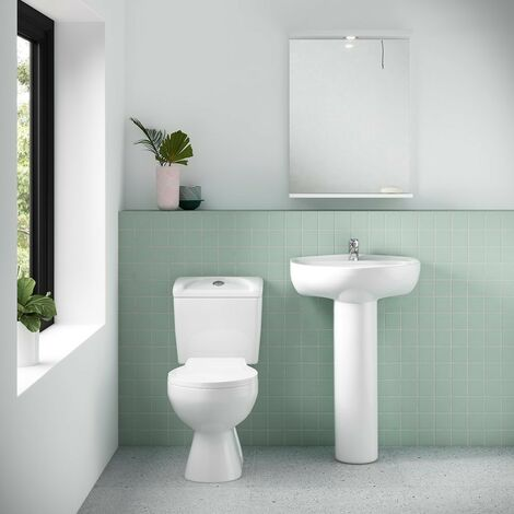 Essentials Close Coupled Toilet & Standard Seat