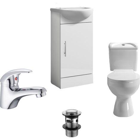 Essentials Compact Cloakroom Suite