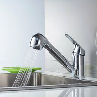 Essentials Kitchen Mixer Tap with Pull Out Spray