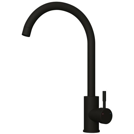 Essentials Matt Black Stainless Steel Nickel Kitchen Sink Mixer