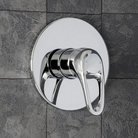 Essentials Round Concealed Loop Shower Valve