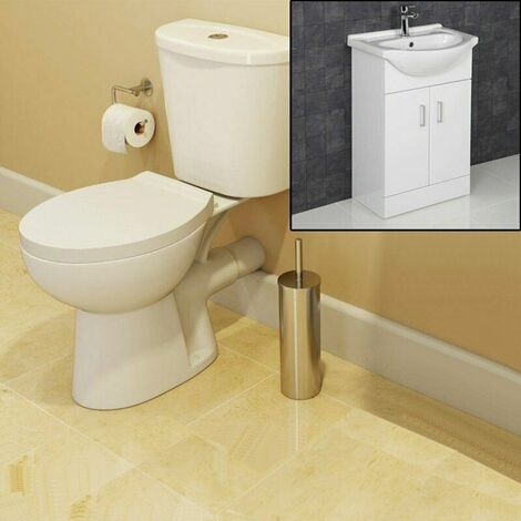 Essentials Toilet and 550mm Essence Vanity Unit