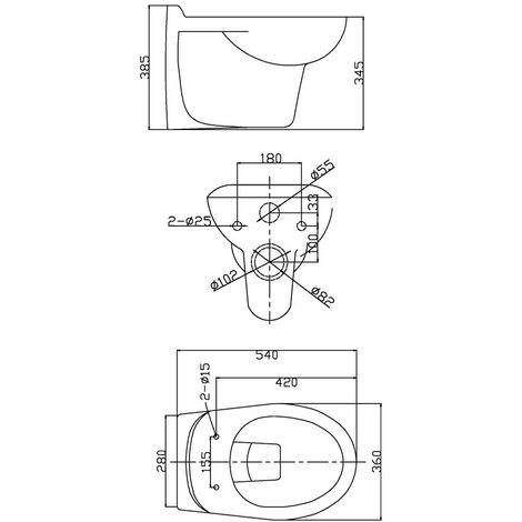 Essentials Wall Hung WC Pan