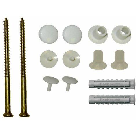 Essentials WC Pan To Floor Vertical Fixing Kit