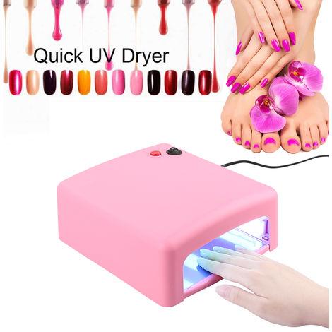 Essiccatore UV per unghie 36W, Lampada per unghie LED, Macchina per fototerapia per gel per unghie, Rosa