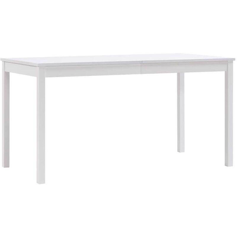 Esstisch Kiefernholz Weiß 140x70x73cm - VIDAXL