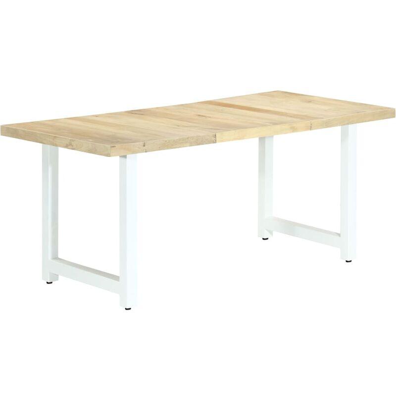 Esstisch 180×90×76cm Holzfarbe Weiß Mango Massivholz - VIDAXL