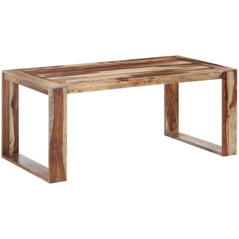 Esstisch Massivholz 180x90x76cm Dunkelbraun - VIDAXL