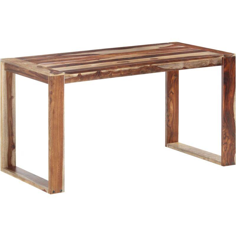 Esstisch Massivholz 140x70x76cm Dunkelbraun - VIDAXL