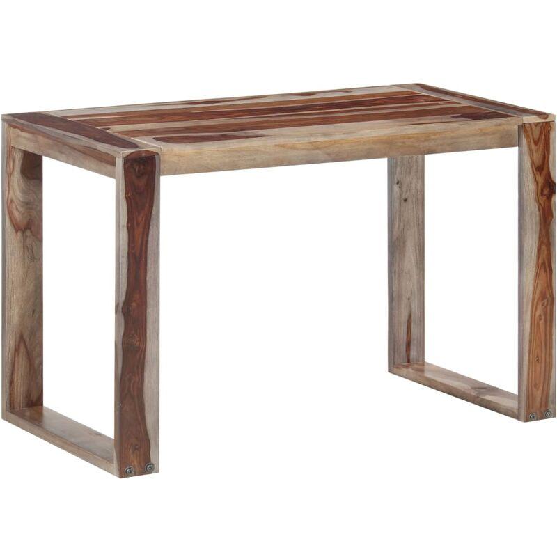 Esstisch Massivholz 120x60x76cm Dunkelbraun - VIDAXL