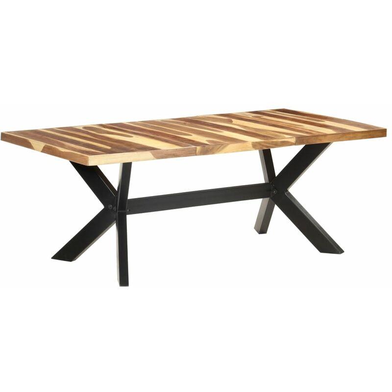 Esstisch 200x100x75 cm Massivholz in Palisander-Optik - VIDAXL