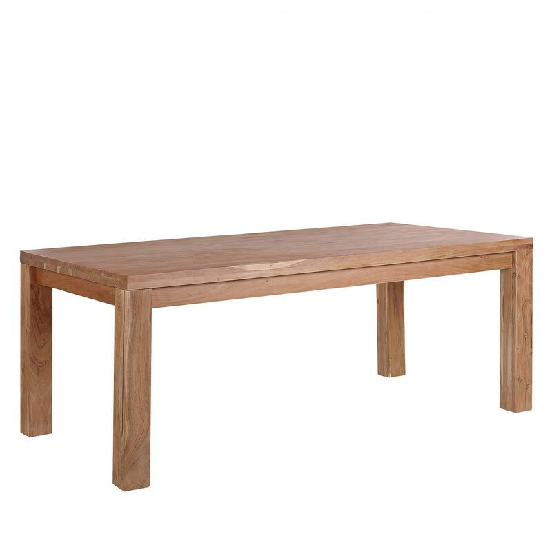 Esstisch aus Holz Hellbraun 180 x 90 cm Echtholz/ Akazienholz/ Handgefertigt Esszimmer Küche Wohnzimmer Rechteckig Klassisch - BELIANI