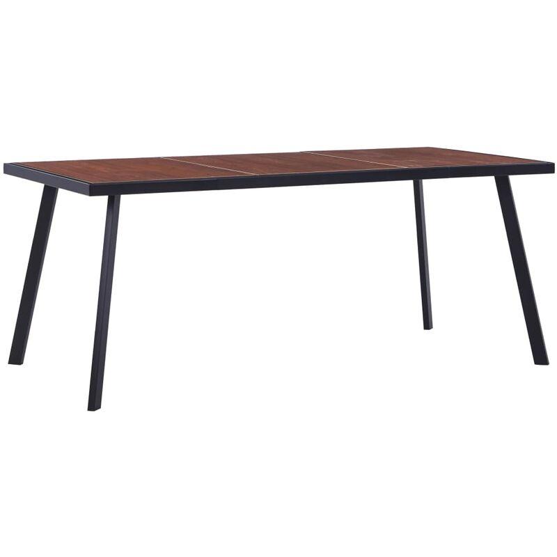 Esstisch Dunkles Holz Schwarz 180x90x75cm MDF - VIDAXL