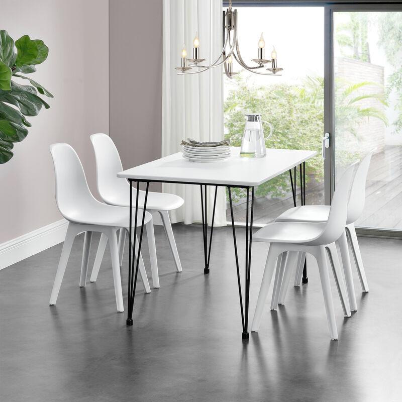 Esstisch Hairpin' [120x70cm] Küchentisch Esszimmertisch Tisch Weiß ' - [EN.CASA]