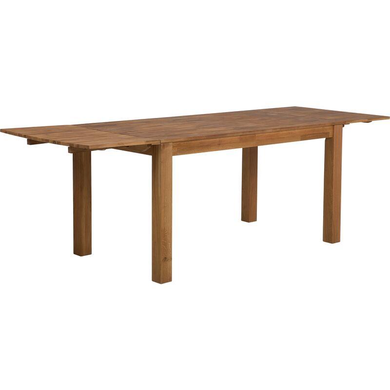 Esstisch Braun 85 x 150 cm Eichenholz 2 Verlängerungsstücken Familientisch Geölt Rechteckig Klassisch - BELIANI