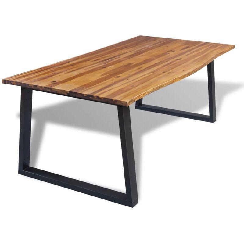 Esstisch Akazienholz Massiv 200 x 90 cm - VIDAXL