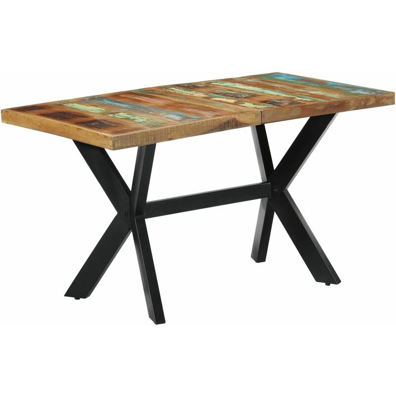 Esstisch Recyceltes Massivholz 140x70x75cm - VIDAXL
