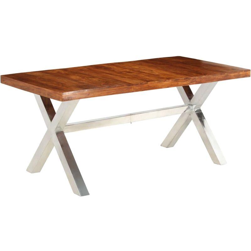 Esstisch 180x90x76cm Massivholz mit Palisander-Finish - VIDAXL