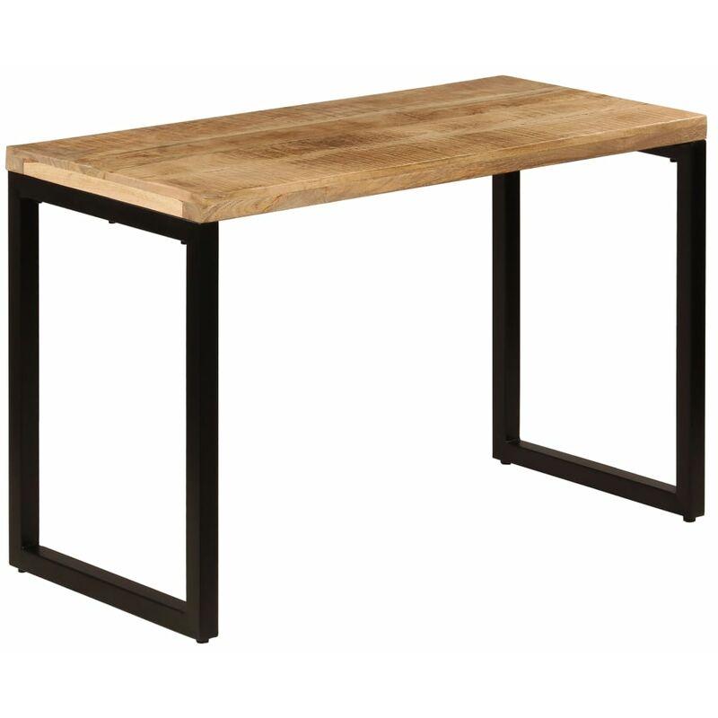 Esstisch 115x55x76cm Stahl Massivholz Mango - VIDAXL