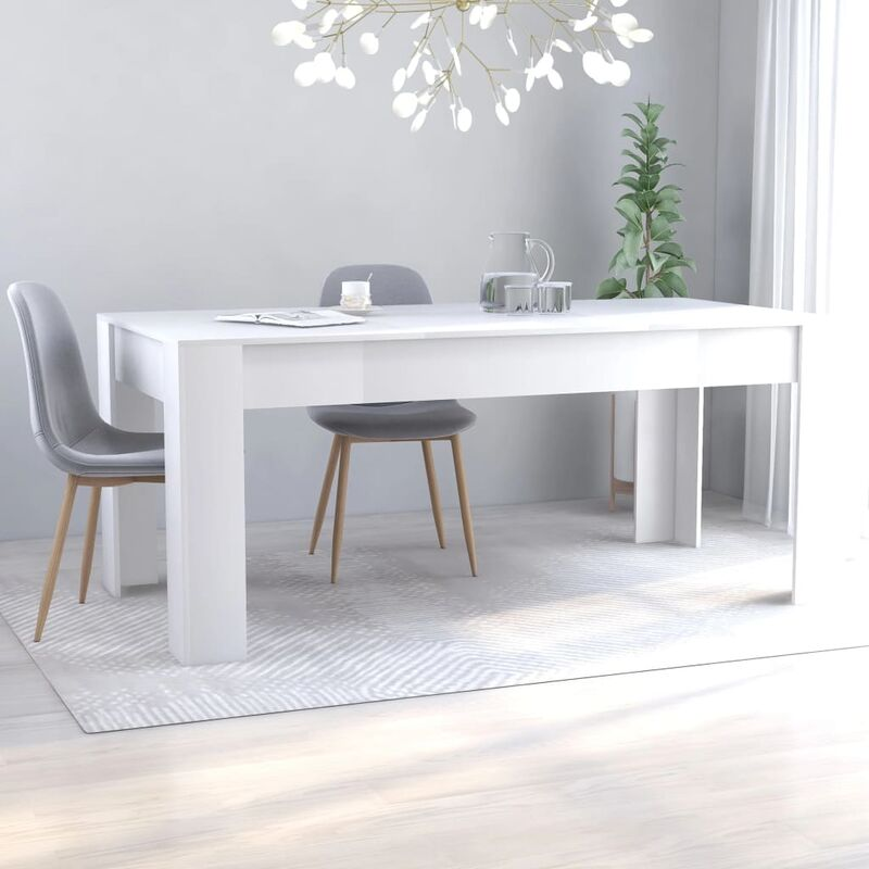 Esstisch Spanplatte Weiß 180×90×76cm - VIDAXL