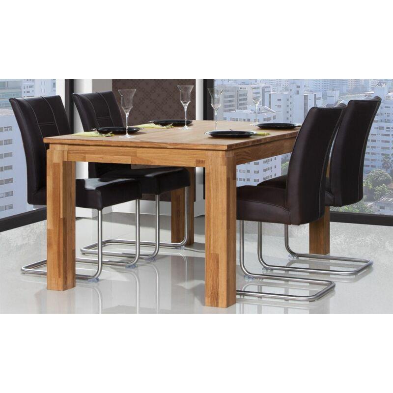 Esstisch Tisch ausziehbar MAISON Eiche massiv 160/250x100 cm - FUN MÖBEL