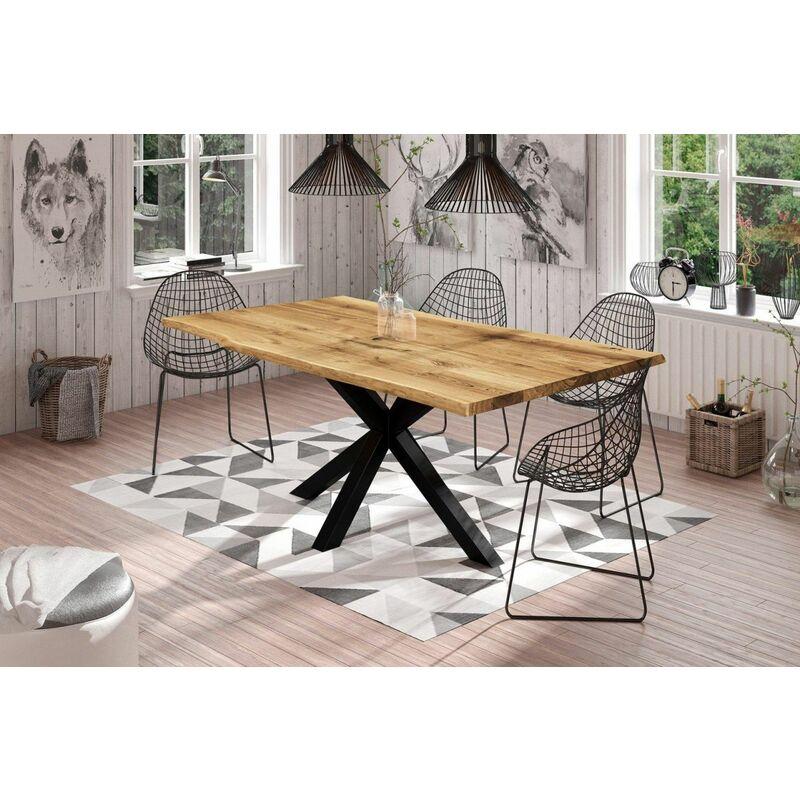 Esstisch Tisch FREYA Wildeiche geölt 160x90 cm - FUN MÖBEL