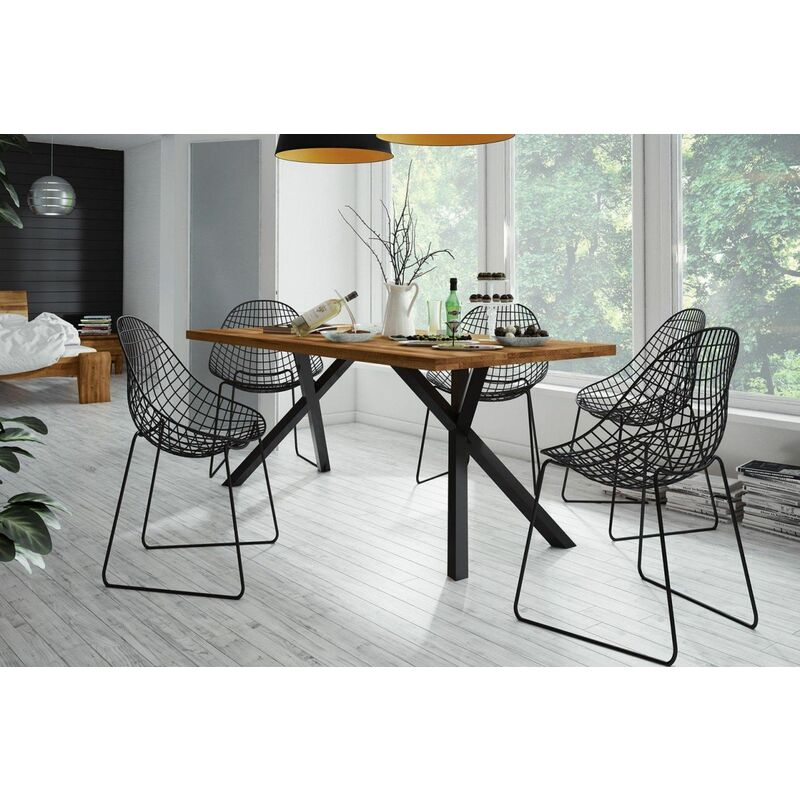 Esstisch Tisch FRIDA Eiche massiv 180x90 cm - FUN MÖBEL