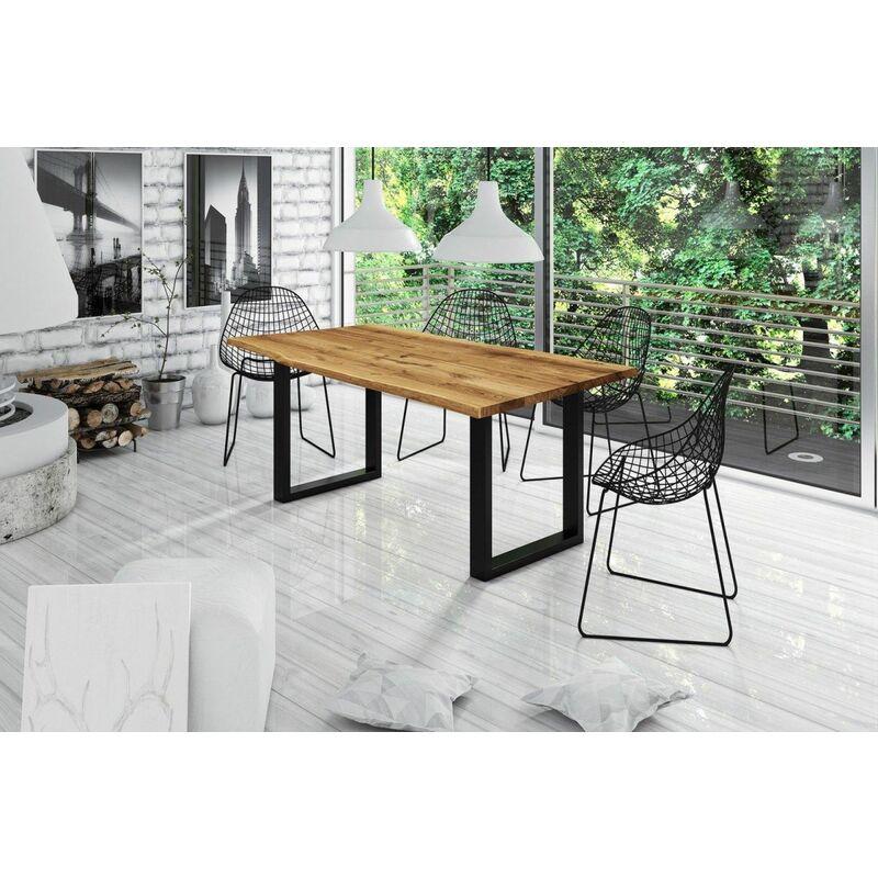Esstisch Tisch IRJA Wildeiche geölt 220x100 cm - FUN MÖBEL
