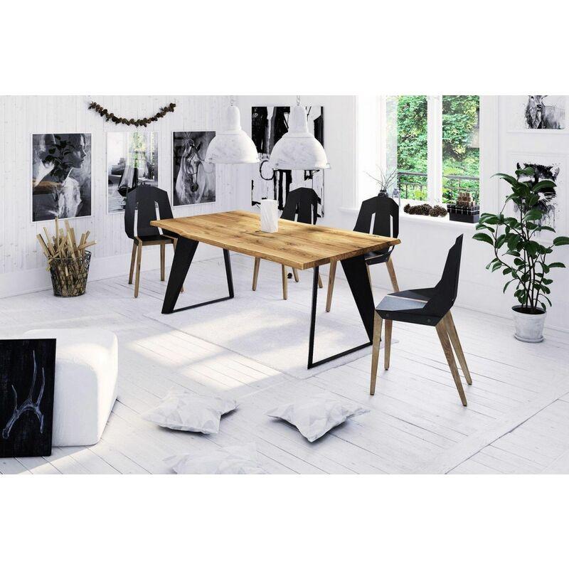 Esstisch Tisch JETTA Wildeiche geölt 160x90 cm - FUN MÖBEL