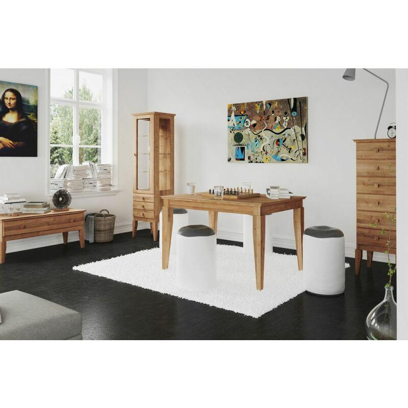 Esstisch Tisch LENNES Eiche massiv 80x80 cm - FUN MÖBEL