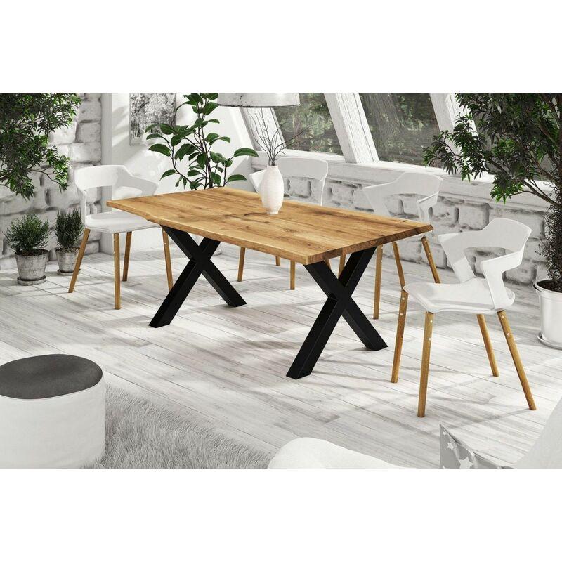 Esstisch Tisch RAIJA Wildeiche geölt 160x90 cm - FUN MÖBEL