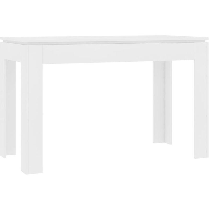 Esstisch 120x60x76cm Spanplatte Weiß - VIDAXL