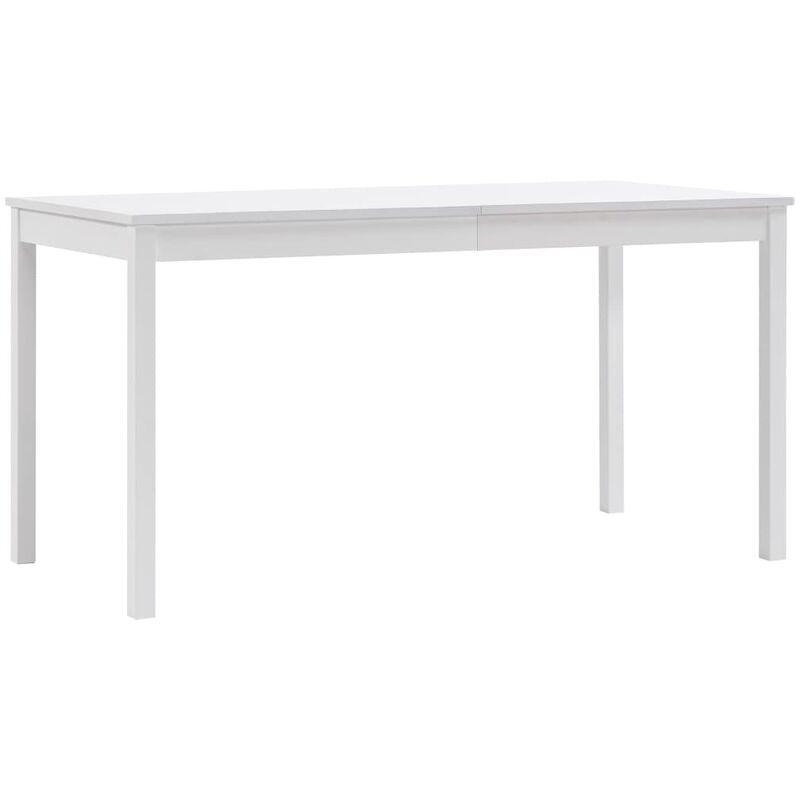 Esstisch Weiß 140 x 70 x 73 cm Kiefernholz - ZQYRLAR