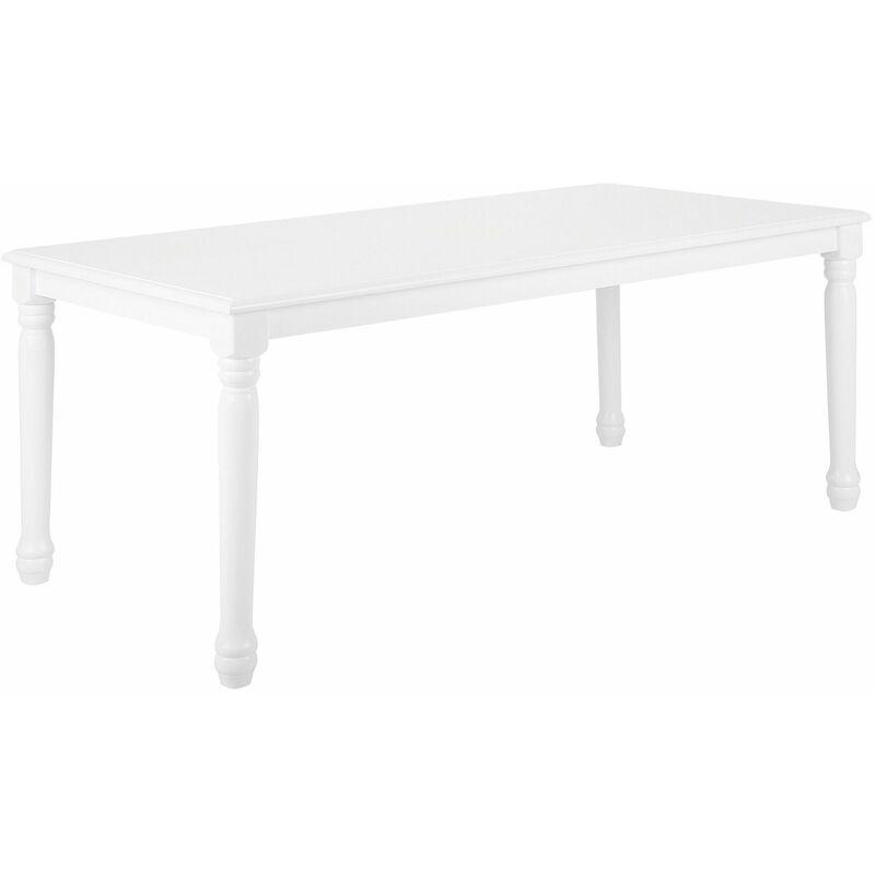 Beliani - Esstisch Weiß 90 x 180 cm MDF Platte Matt mit Holzbeine Rechteckig Modern