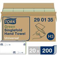 Essuie-mains en papier 1 couches 20 paquet(s) TORK Zickzack Universal 290135 ATT.LOV.FITS4_DIPENSER: Tork H3