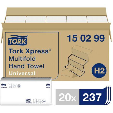 Essuie-mains Multifold Universal pliés en Z TORK Xpress Multifold Universal 150299 2 épaisseurs Nombre: 4740 feuille(s)