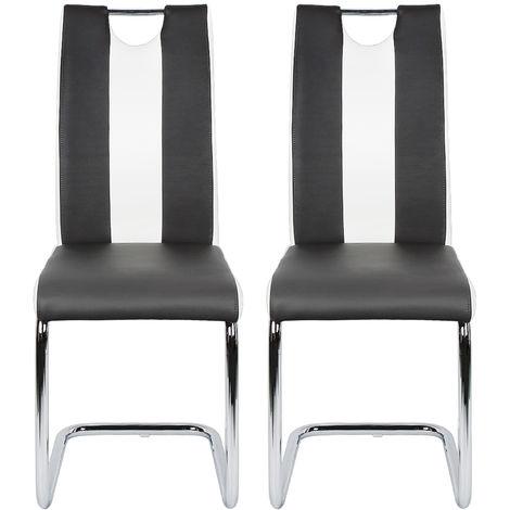 Esszimmerstühle Schwingstühle, Küchenstühle, Freischwinger Stühle Schwingstuhl Esszimmerstuhl Hochlehner schwarz
