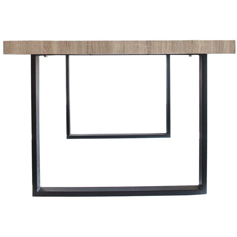 Esszimmertisch Esstisch Kufentisch Holztisch Tisch mit Massive Tischplatte und Kufen Sanoma Eiche + Schwarze Kufen
