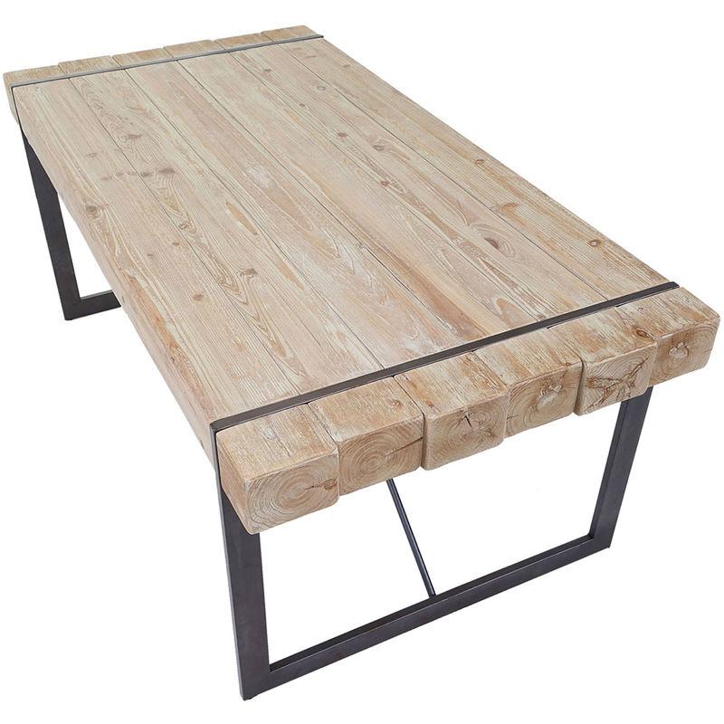 Esszimmertisch HHG-892, Esstisch Tisch, Tanne Holz massiv rustikal ~ 80x200x90cm