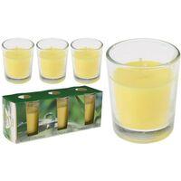 Est/_/3 velas vasito vid. 6x5 c/citro