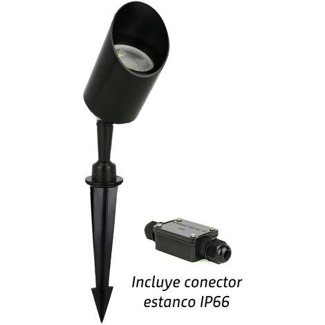 Estaca de jardín GU10 con conector estanco incluido IP65 (Spectrum SLIP012009)