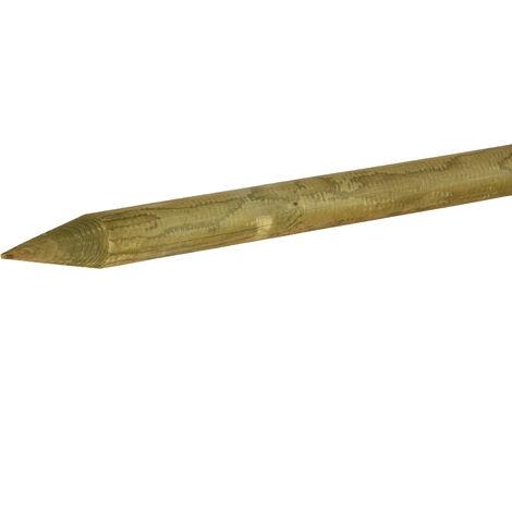 Estaca de madera tratada y torneada con punta Ø5x150cm