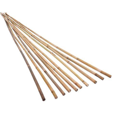 Estacas de bambú para jardín 50 piezas 120 cm